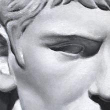 Detail of Grisaille Cast Study: Roman Youth